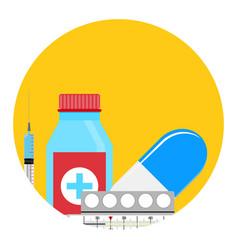 Treatment of influenza app icon vector
