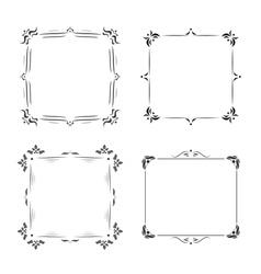 Vintage frames decoration vector image vector image