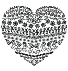 Zentangle heart vector image vector image