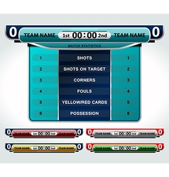 Design elements scoreboard vector