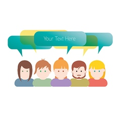 Group of people communication vector