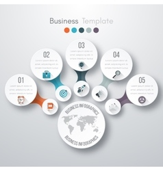 Timeline 3d infographic vector