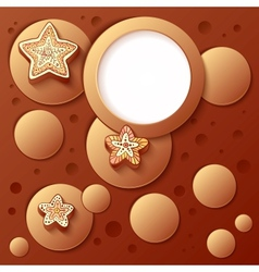 Chocolate bubbles abstract artistic background vector