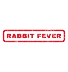 Rabbit fever rubber stamp vector