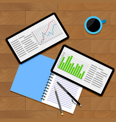 infographics and statistics vector image