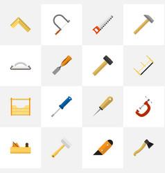Set of 16 editable tools icons includes symbols vector