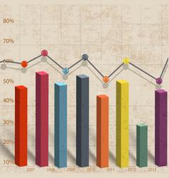 Business bar diagram vector