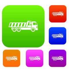 Machinery set collection vector