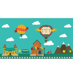 Retro town design vector