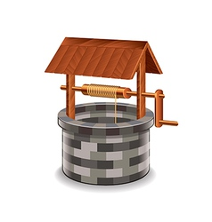 Water well isolated vector