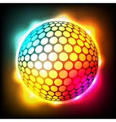 Glowing Golf Ball vector image
