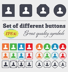 User person log in icon sign big set of colorful vector