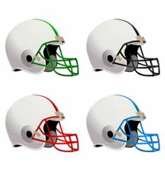 Football helmets vector