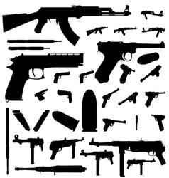Weapon silhouette vector