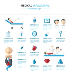 Medical and health infographics concept vector