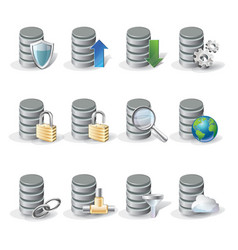 Database icon set vector