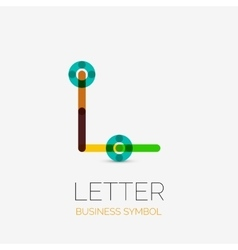 Minimalistic linear business icons logos made of vector