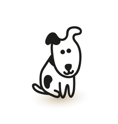 Little cute puppy sketch vector
