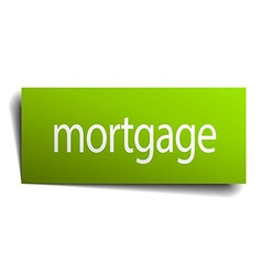Mortgage square paper sign isolated on white vector