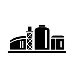 Chemical plant icon simple style vector