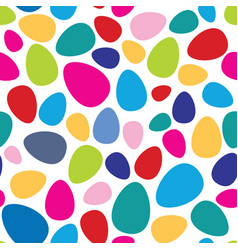 Abstract mosaic spot pattern easter egg seamless vector