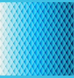 blue tiled rhombus pattern vector image