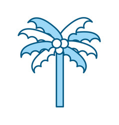 cute blue beach palm cartoon vector image vector image