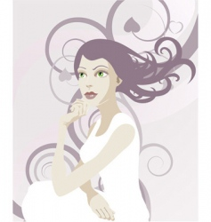Elegant lady vector