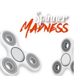 fidget spinner toy vector image