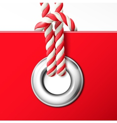 Grommet with rope vector image vector image
