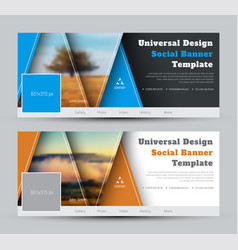 Modern design black and white banners for social vector