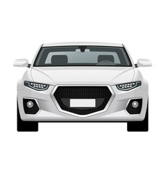 Modern generic car front view vector