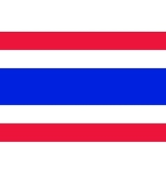 National flag of thailand vector