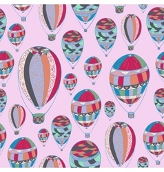 pattern with aerostats vector image vector image