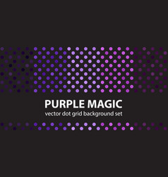 Polka dot pattern set purple magic seamless vector