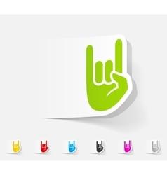 realistic design element rock hand gesture vector image