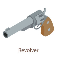 revolver icon isometric 3d style vector image