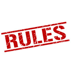 Rules stamp vector