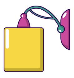 Sconce icon cartoon style vector