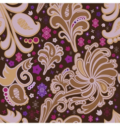 Seamless pattern in brown coloring vector image