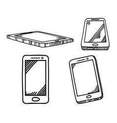 smartphone hand drawn sketch vector image vector image