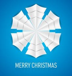 Snowflake corner paper 12 vector