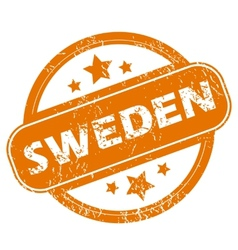 Sweden grunge icon vector image vector image
