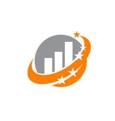 Swoosh business solution vector