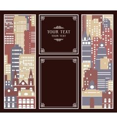 Urban post card vector image