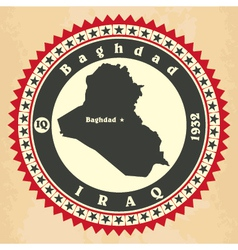 Vintage label-sticker cards of iraq vector