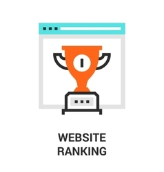 website ranking icon vector image vector image