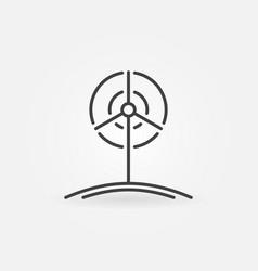 wind turbine outline icon vector image vector image