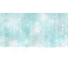 Winter Bokeh Background seamless vector image vector image