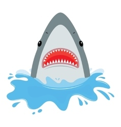 Shark with open mouth vector